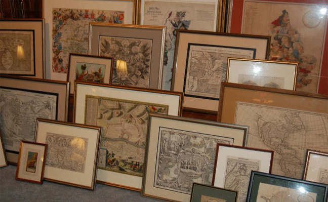 Framed Rare Old Original Maps and Prints From The Civil War & More for Sale at Cartographic Associates