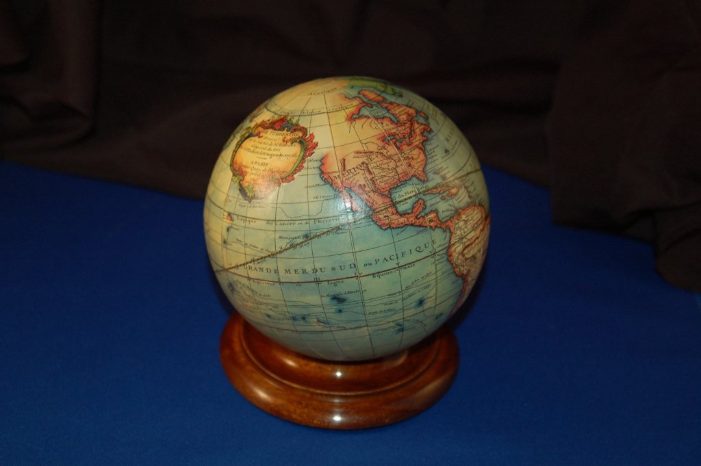 Web Site – boat model, small table globe – 2013 003 - Rare Old Maps & Globes for Sale