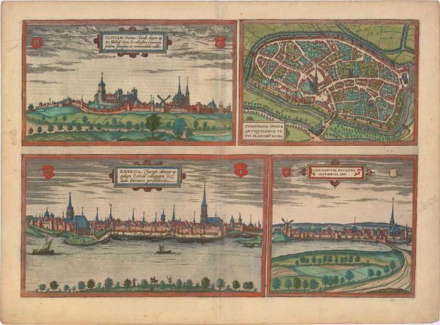 21.20 Braun & Hogenberg - Duisburg - 1575- Rare World Prints for Sale
