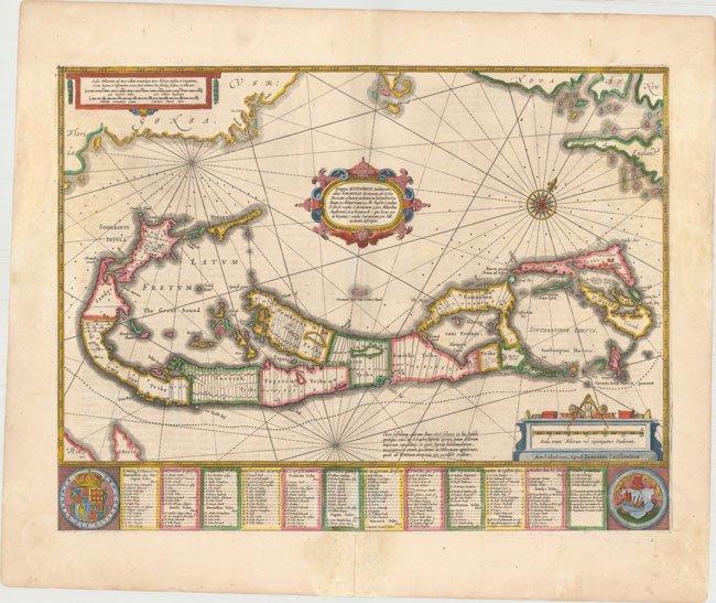120 05 Bermuda Jansson 1653 Antique Maps For Sale Cartographic Associates