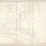 120.22 Gulf Stream - Hurricane 1855- Rare Old Maps for Sale
