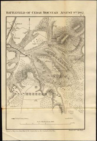 120.39 Civil War Cedar Mountain- Original Civil War Maps for Sale