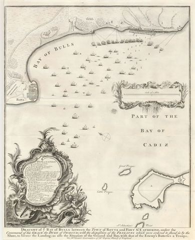 20.02 Draught of ye Bay - 1745 - Tindal- Rare Old Maps and World Prints for Sale
