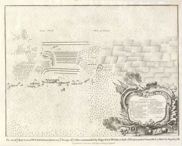 20.03 Plan of Battle Wynendale - 1745- Rare Old Maps and World Prints for Sale