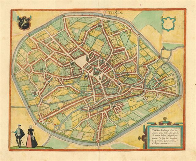 22.12 Tienen - Braun - 1580- Rare World Prints and Old Maps for Sale