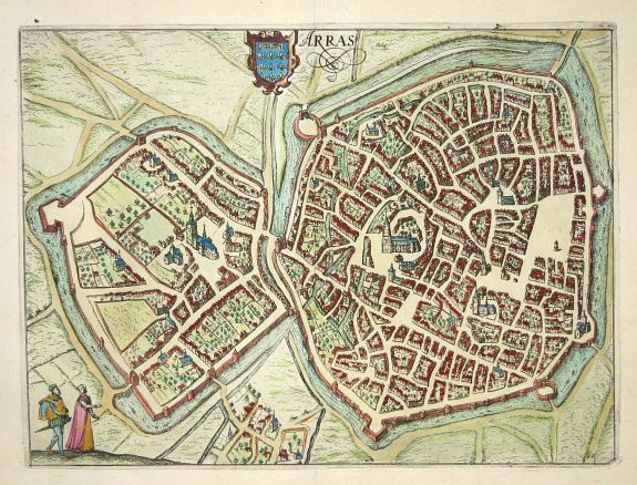 22.29 Arras - Lodovico - 1612- Rare Old Maps for Sale