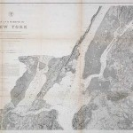 350.47 New York Bay & Harbor- Antique Maps of America for Sale