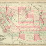 368-25 California - New Mexico - Arizona - 1863- Antique Maps of America for Sale