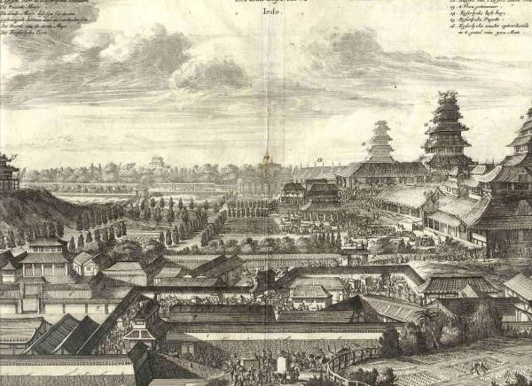 Rare Antique World Prints for Sale- 800.07 Japan - Emperors Palace - 1699 - 800-07