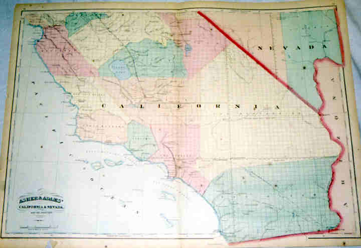 California - Nevada 368-36- Antique Maps of America for Sale