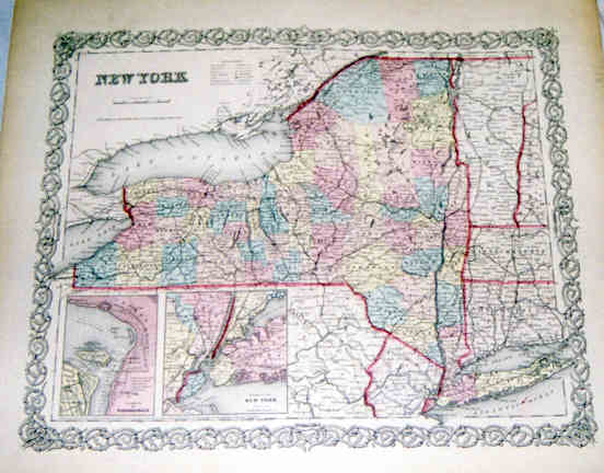 New York 368-38- Antique Maps of America for Sale