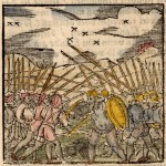 22.01 Woodblock - battle- Rare World Prints for Sale