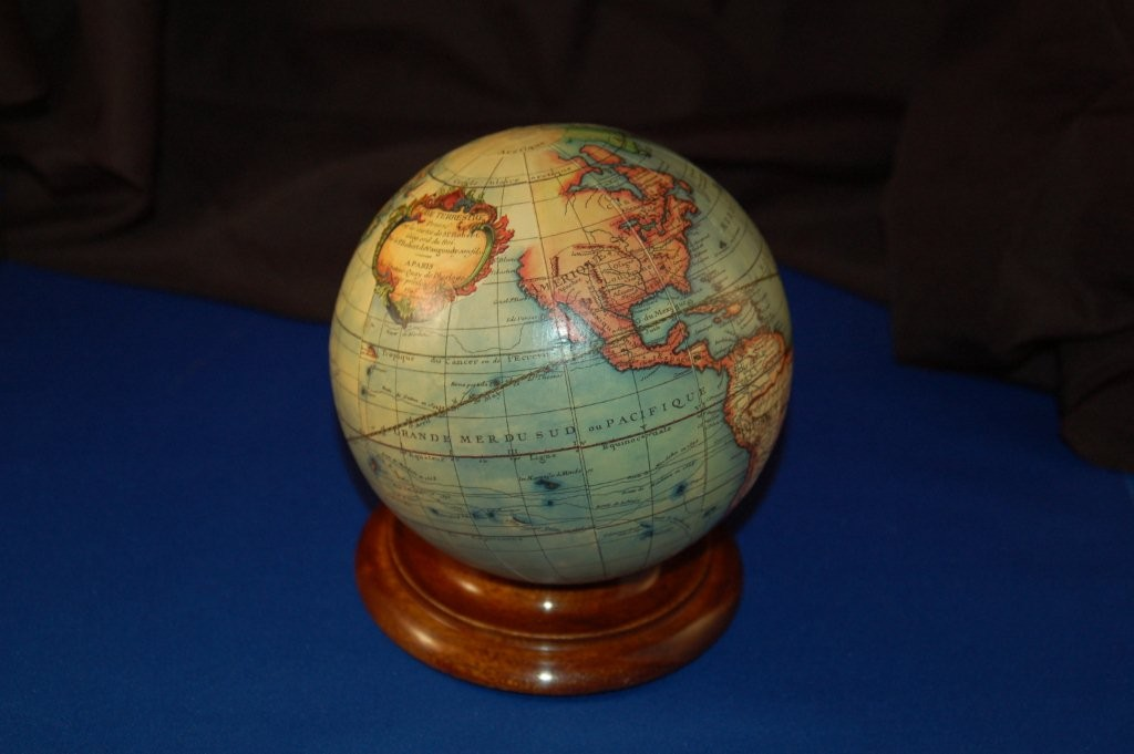 40.449 boat model, small table globe - 2013- Antique Maps and Globes of America for Sale