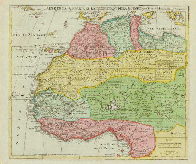 800.04 West Africa - 1792- Rare World Antique Maps for Sale