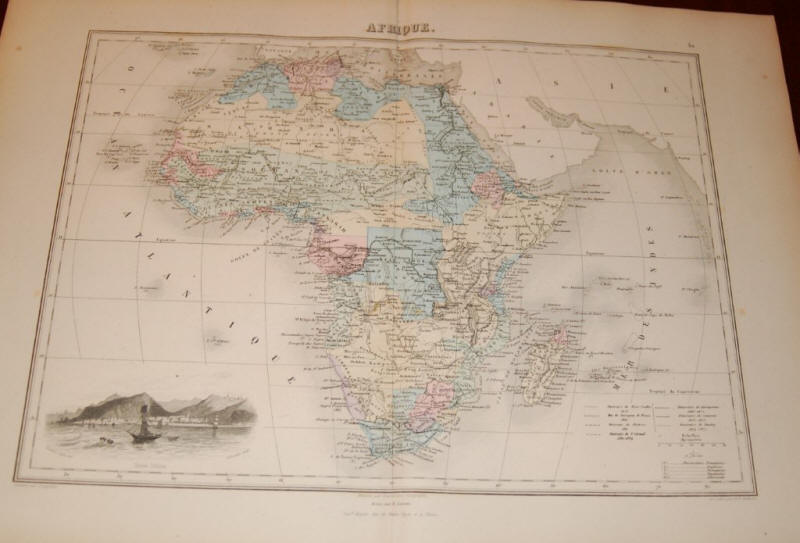 800.15 Maps - Africa - Gulf Stream - 1853- Rare Old Maps for Sale