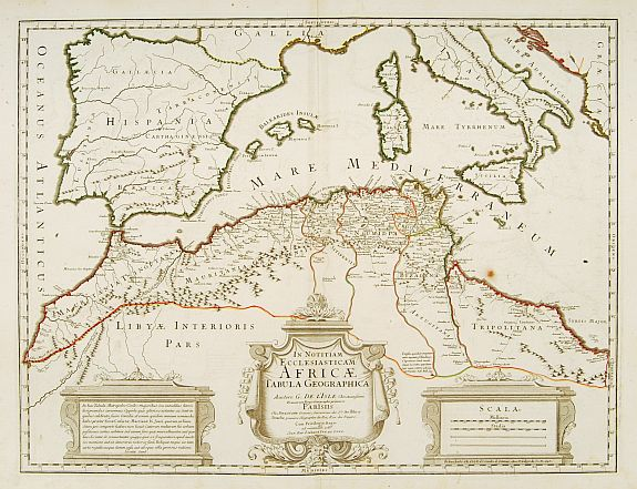 800.30 North Africa - 1780 - LIsle- Rare Old Maps for Sale
