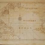 120.23 Atlantic Ocean - Blunt - 1831 - Antique Maps of America for Sale