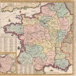 520.23 Carte Geo. de France - Chatelain - 1720- Antique Maps of America and Europe for Sale
