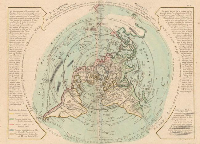 700.08 Planisphere - Buache - ca1780- Antique Maps of America and More for Sale