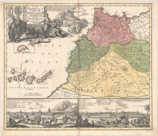 570.27 Marocca - Homann - 1728 - Rare Old Maps for Sale