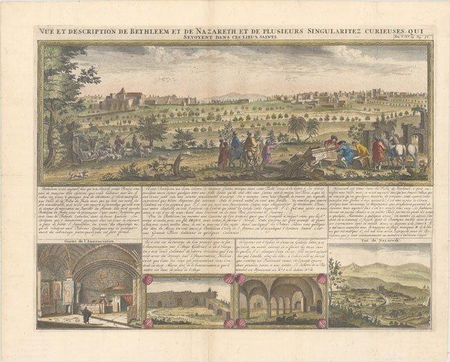 520.36 Bethlehem - Henri Chatelain - 1719 - Rare World Prints for Sale