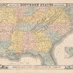 120.33 Civil War - Map of the southern states - 1863- Rare Old Maps for Sale