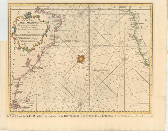 700.14 Atlantic Ocean South - Bellin - 1746- Rare Old Maps for Sale