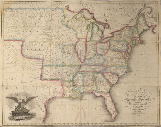 Antique Maps of America for Sale - Rocky Mountains to the ...